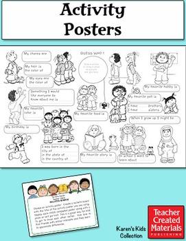 Activity Posters by Karen's Kids (Digital Download)