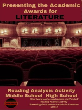 Reading Analysis Activity: Presenting the Academic Awards