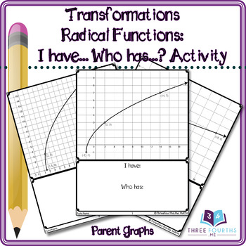 Activity: Radical (Square Root) Function Transformations