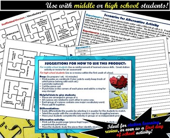 Activity - Science Skills Puzzles: A Set of Two Activities