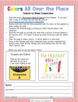 Back to School! My Teaching Strategies-Activity Set,Round 1,Set 1 Crayon Welcome