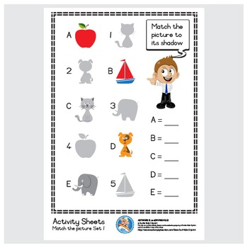 Freebie : Activity Sheet/Match the picture Set 1