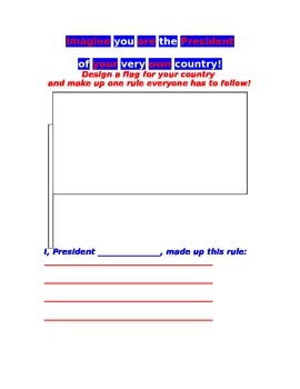 Activity Sheet for Patriotic Holidays