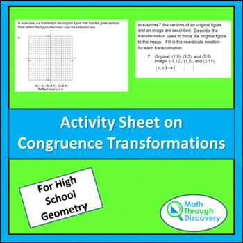 Activity Sheet on Congruence Transformations