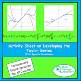 Calculus - Activity Sheet on Developing the Taylor Series