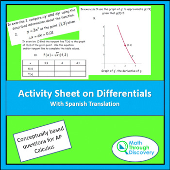 Activity Sheet on Differentials