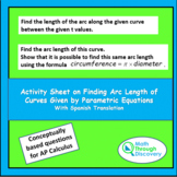 Calculus-Activity Sheet-Finding Arc Lengths of Curves with