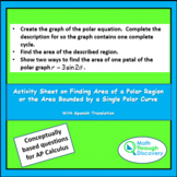 Activity Sheet on Finding Area of a Polar Region Bounded b
