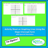 Activity Sheet on Graphing Lines Using the Slope-Intercept Form