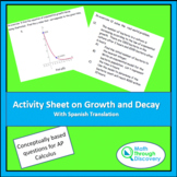 Activity Sheet on Growth and Decay