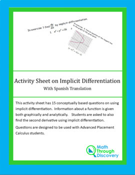 Activity Sheet on Implicit Differentiation