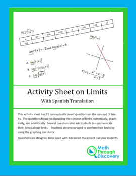 Activity Sheet on Limits