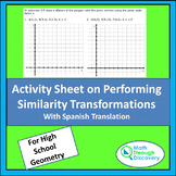Activity Sheet on Performing Similarity Transformations