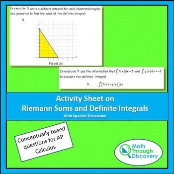 Activity Sheet on Riemann Sums and Definite Integrals