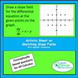 Calculus - Activity Sheet on Sketching Slope Fields