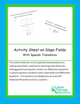 Activity Sheet on Slope Fields