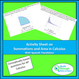 Activity Sheet on Summation and Area in Calculus