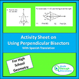 Geometry - Activity Sheet on Using Perpendicular Bisectors