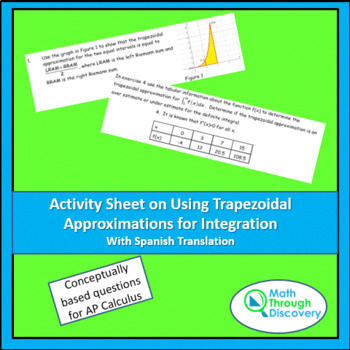 Activity Sheet on Using Trapezoidal Approximations for Integration