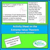 Activity Sheet on the Extreme Value Theorem