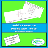 Activity Sheet on the Extreme Value Theorem