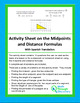 Activity Sheet on the Midpoint and Distance Formulas