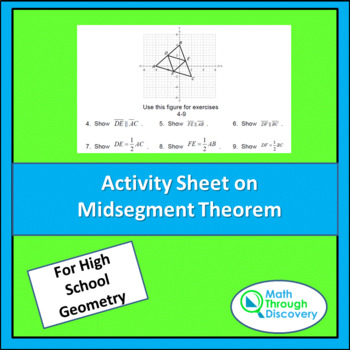Triangle Midsegment Theorem Teaching Resources Teachers Pay Teachers