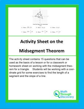 Activity Sheet on the Midsegment Theorem