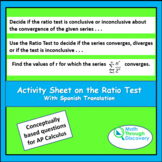 Activity Sheet on the Ratio Test