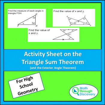 triangle sum theorems teaching resources teachers pay teachers