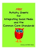 Activity Sheets for Integrating Social Media and the Common Core