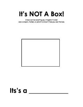 Activity Sheets for Not a Box and Not a Stick by Antoinette Portis
