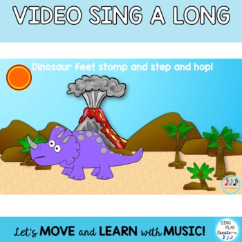 "Song: ""Doin' Dinosaur Moves"" Literacy, Movement Activity, Video, Mp3 Tracks"