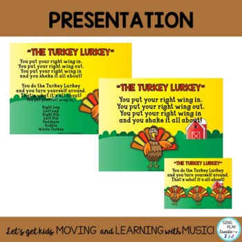 """The Turkey Lurkey"": Thanksgiving Movement Song with Literacy Activities"