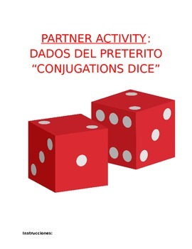 Activity Sp1, Sp2, or Sp3 - Verb Conjugations Paper Dice f