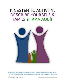 Activity Sp1 or Sp2 - Describe Yourself and Family: Firma aquí, por favor