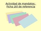 Activity Sp2, Sp3, Sp4, Sp5 - Ficha de los mandatos: Index Card Commands Guide