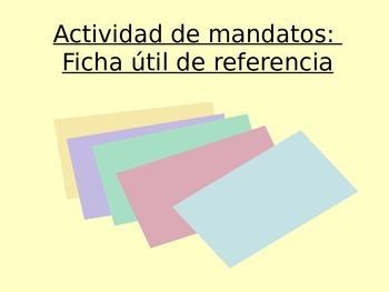 Activity Sp2, Sp3, Sp4, Sp5 - Ficha de los mandatos: Index