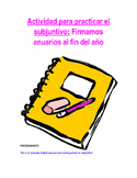 Activity Sp3-Sp5 - Anuarios: Timed Yearbook Writing for Subjunctive Practice
