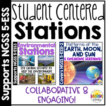 Earth and Space Science Activity Stations Bundle {NGSS and CCSS Aligned}