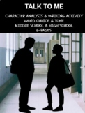 Literary Analysis Activities - Specific Word Choice and To