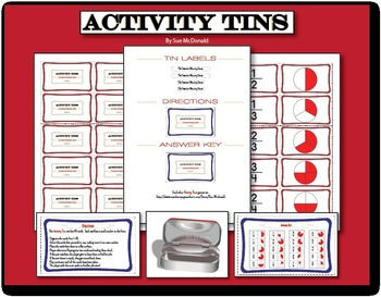Activity Tins - Fraction Memory Game - A Game for Grades 2, 3, 4, 5, 6