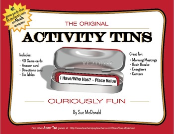 Activity Tins - I Have, Who Has? - Place Value Game for Grades 2, 3, 4, 5, 6