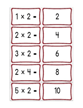 Activity Tins - Multiplication Match-Up Game - A Game for Grades 2, 3, 4, 5, 6
