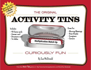 Activity Tins - Multiplication Match-Up Game - A Game for