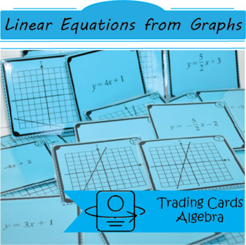 Trading Cards: Create a Linear Equation from Graphs