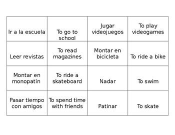 Activity Vocabulary Memory Matching Game