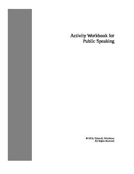 Activity Workbook for Public Speaking