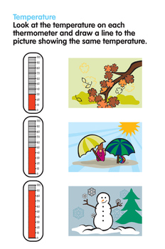 Activity Worksheets - Match the Temperature