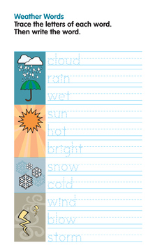 Activity Worksheets - Weather Words